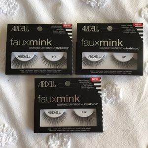 NWT Ardell 811 and 812 faux mink lashes